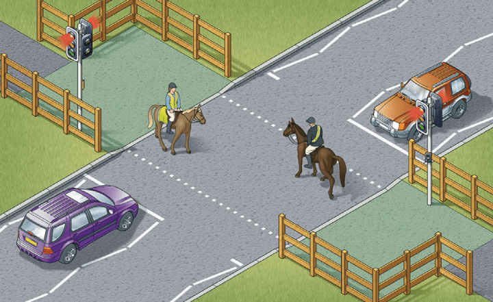 Rule 27: Equestrian crossings are used by horse riders. There is often a parallel crossing