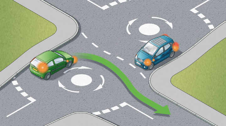 HOW TO CORRECTLY USE MINI ROUNDABOUTS